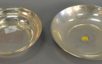 """Two sterling silver bowls, dia. 8 1/2"""" and 10"""", 22.4"""