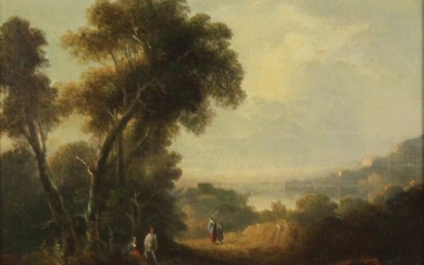 UNSIGNED (XVIII). Landscape with mountains, lake and