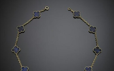 """VAN CLEEF & ARPELS Yellow gold and lapis """"Alhambra"""""""