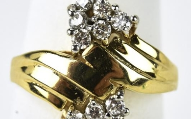 Vintage Diamond and 14k Yellow Gold Ring