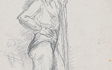 WOMAN'S STUDY OF THE PROFILE CIRCUS Pencil on...