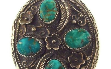 WOW Sterling Silver & Turquoise Statement Ring