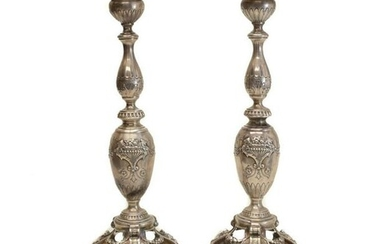 WW Wattles & Sons Sterling Silver Candlesticks