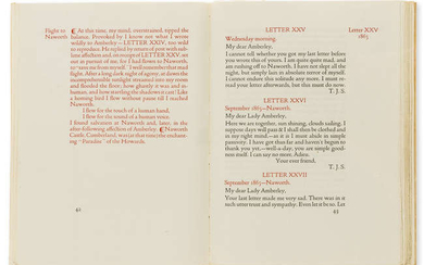 Doves Press.- Cobden-Sanderson (T.J.) Amantium Irae: Letters to Two Friends 1864-1867, one of 150 copies on paper, original limp vellum by the Doves Bindery, Doves Press, 1914.