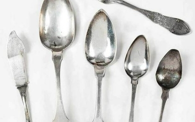 16 Pieces Virginia Coin Silver Flatware
