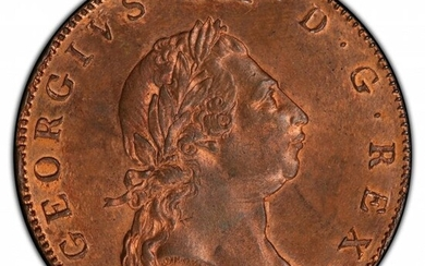 31212: British Colony. George III Penny 1793 MS64+ Red