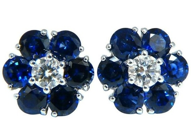 6.26ct Natural Sapphire Diamonds Floretta Cluster