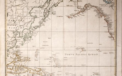 A Chart Exhibiting the New Discoveries in the North & South Pacific Ocean, Also Those on The North-West Coast of America Map