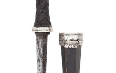 A Continental Silver-Mounted Dagger