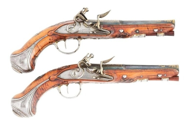 (A) EXTREMELY FINE PAIR OF FRENCH FLINTLOCK GREATCOAT