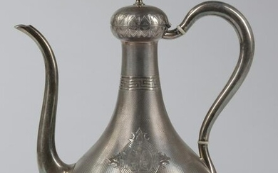 A FRENCH SILVER EWER, MARK OF CARDEILHAC, 20TH CENTURY