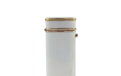 A Faberge 2 colour gold and silver gilt and enamel cigarette...