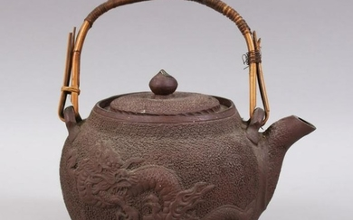 A JAPANESE MEIJI PERIOD MOULDED CLAY / YIXING STYLE