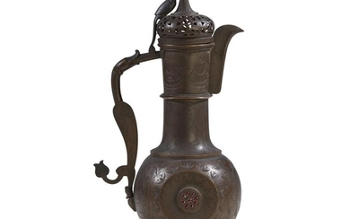 A Kashmiri or North Indian embellished brass ewer 19th/early...