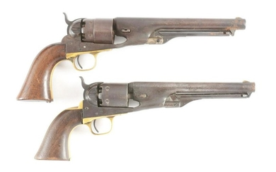 (A) LOT OF TWO COLT CIVIL WAR PERCUSSION REVOLVERS