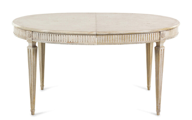 A Louis XVI Style Painted Dining Table