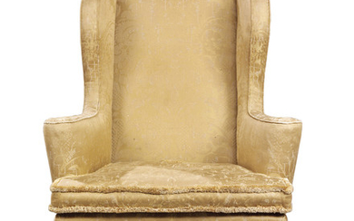 A QUEEN ANNE WALNUT WING ARMCHAIR, EARLY 18TH CENTURY