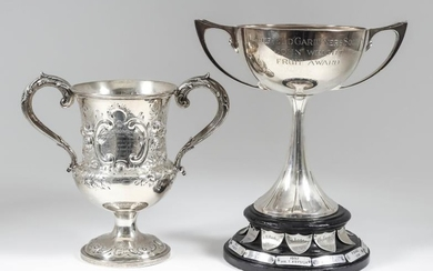 A Victorian Silver Two-Handled Cup and a George VI...