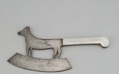 A cast iron meat knife, 19th century.