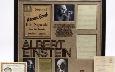 ALBERT EINSTEIN SIGNATURE ON A PM DAILY NEWSPAPER COVER...