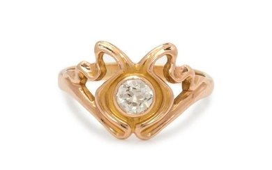 ART NOUVEAU, DIAMOND RING