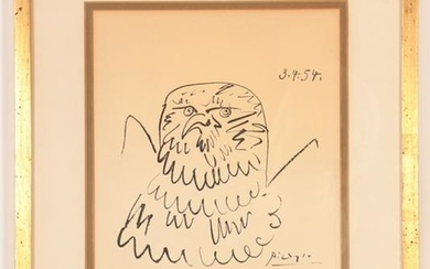 After Pablo Picasso: Eagle Sketch Xerograph/Paper
