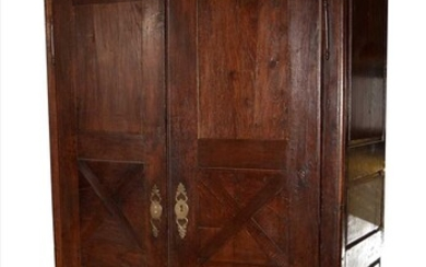 An 18th Century French Provincial oak armoire.