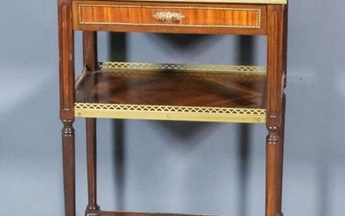 An Early 20th Century French Mahogany and Brass Mounted...