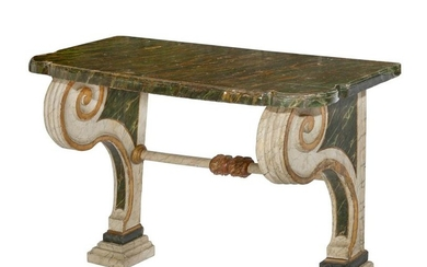 An Italian Neoclassical painted console