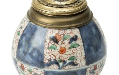 Antique Chinese Ginger Jar in Gilded bronze and