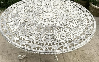 Antique Victorian Cast Iron Outdoor Dining Table