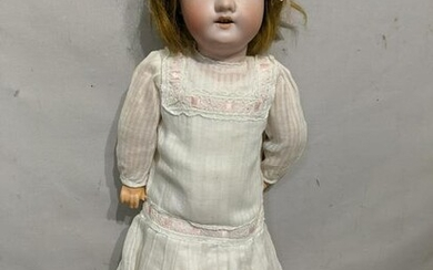 Armand Marseille A&M 390 Bisque Doll of Girl in Dress