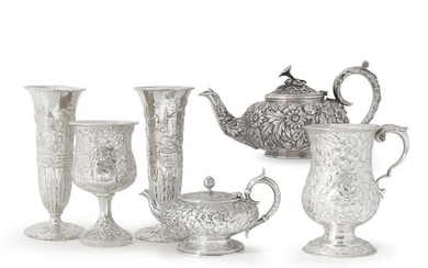 Assembled group of six sterling silver table items S....