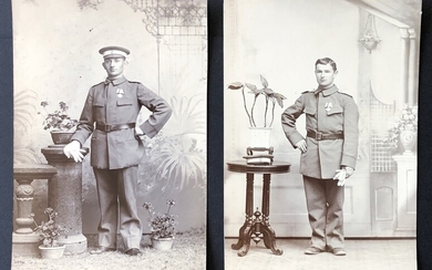 Photograph Characters 1890-1990s two photos of German soldiers stationed in Shantung and Shang...