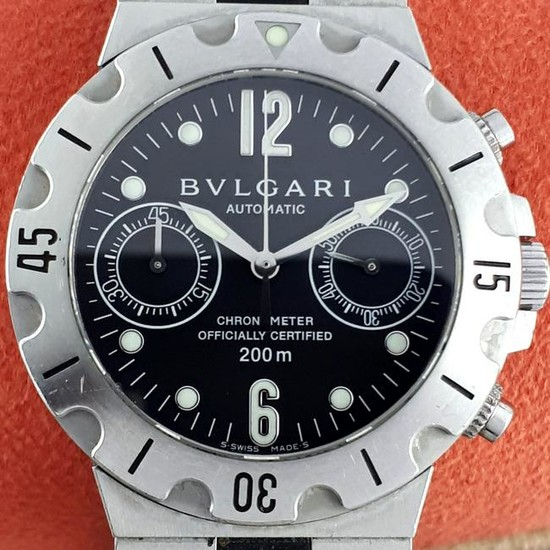 Bulgari - Scuba Diver - Diagono Steel – Automatic