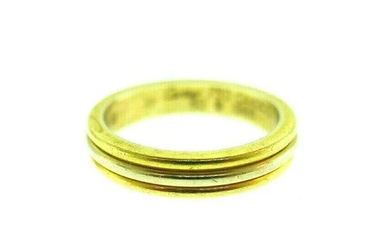 Cartier 18k White and Yellow Gold Band Ring