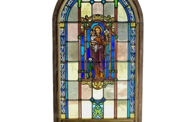 Cathedral Arched Stained Glass Window