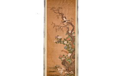 Chinese 19th Century Hand Painted Scroll
