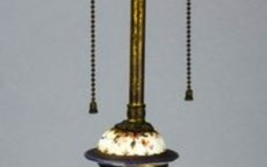 Chinese Export Armorial Vase Mount Table Lamp