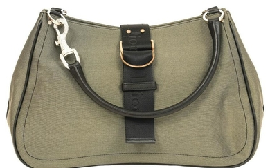 Christian Dior Green Nylon Shoulder Bag