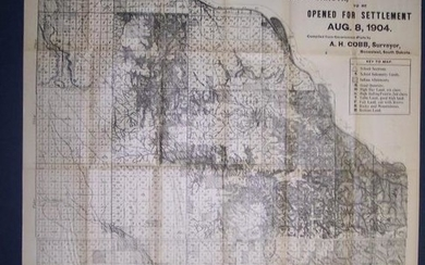 Cobb's Latest Map of the Rosebud Reservation, South