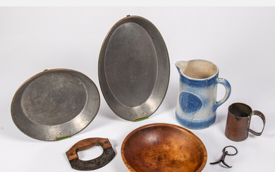 Collection of Copper, Metal, Wood and Ceramic Kitchen Items