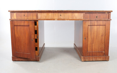 DESK, Mahogany, English style, double-sided.
