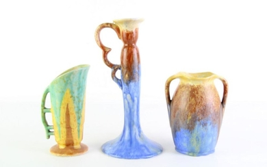 Empire Ware Vase (H15.5cm) And Candle Holder (H25cm) Together with Another (H16.5cm)