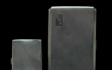 English Sterling Silver Cigarette and Card Cases.