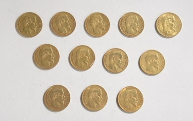 GOLDEN CURRENCY: 12 gold coins of 20 gold...
