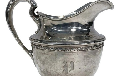 """GORHAM STERLING SILVER PITCHER 8 3/8"""" TALL APPROX. 22.2"""