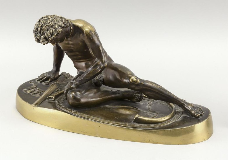 """GRAND TOUR BRONZE FIGURE OF """"THE DYING GAUL"""" Unmarked. Length 14""""."""