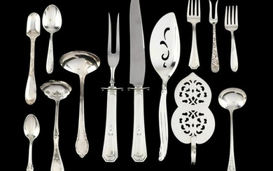 Group of Sterling Silver & Silverplate Flatware