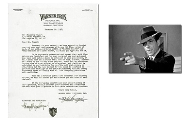 Humphrey Bogart Signed Deal Re: Maltese Falcon